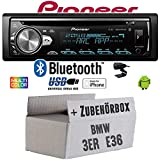BMW 3er E36 - Autoradio Radio Pioneer DEH-S5000BT - Bluetooth | CD | MP3 | USB | Android | iPhone 12V Radiopaket Einbauzubehör - Einbauset
