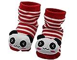 BONAMART 3D Anti Rutsch Babysöckchen Stricken Socken Baby Laufsocken Babysocken kindersocken Junge Mädchen Karikatur Schuhe Baumwolle 0-12 Monate