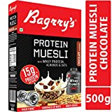 Bagrry's Protein Muesli with Whey Protein, Almonds and Oats, 500 GM