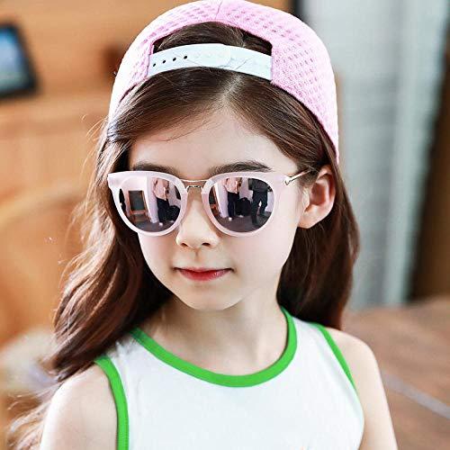 CYCY Baby Kindersonnenbrille Mädchen Sonnenschirm Herren Baby Sonnenbrille Neue süße Loli Trend Kindersonnenbrille UV400 UV Kinderkomfort Brille Roségold Leopard, Loli Puder