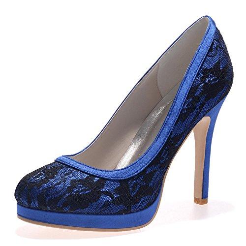 L@YC Tacchi alti Da Sposa In Seta Da Donna E6915-08 / # Outdoor / abbigliamento / Tempo Libero Blue