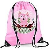 Girls Swim Bag, Pink Gym Bag, Girls PE bag, Owl Bag