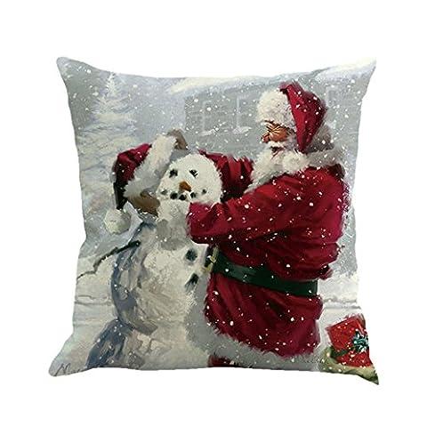 Vovotrade Für Weihnachtsdekoration Weihnachtsmann Druck Färben Sofa Bett Home Decor Kissenbezug (Solid Gold Taschenuhr)