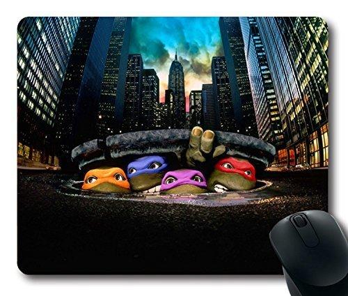 Custom Gaming Mouse Pad with teenage mutant ninja turtles leonardo raphael michelangelo donatello Non-Slip Neoprene Rubber Standard Size 9 Inch(220mm) X 7 Inch(180mm) X 1/8 Inch(3mm) Desktop Mousepad Laptop Mousepads Comfortable Computer Mouse Mat (Ninja Turtles I)