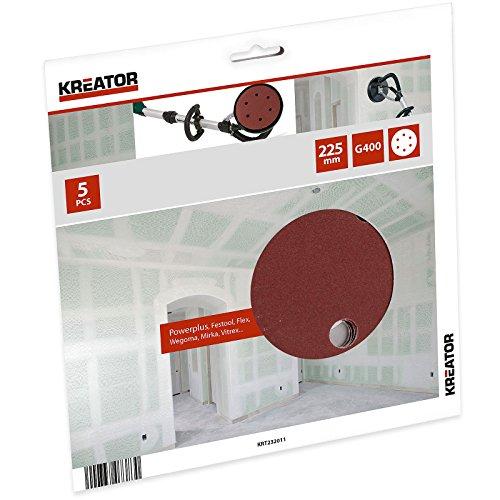 Preisvergleich Produktbild KREATOR 5 Schleifscheiben / Schleifpapier Ø 225 mm K400 KRT232011