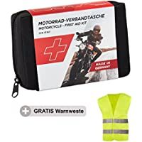 GoLab Motorrad Erste Hilfe Set - klein und kompakt, Verbandtasche nach DIN 13167 mit Warnweste für alle europäischen... preisvergleich bei billige-tabletten.eu