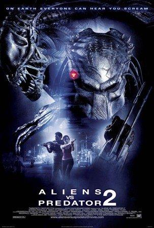 Filmposter Aliens Vs Predator 2, gedruckt, Größe ca. 30,5x 20,3cm