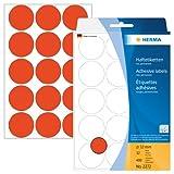 Herma 2272 Vielzwecketiketten bunt, rund (Ø 32 mm) rot, 480 Klebepunkte, 32 Blatt, Papier, selbstklebend