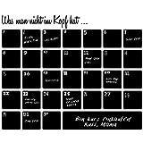 "Wandkings Wandtattoo ""Monatsplaner"" aus Tafelfolie 50 x 40 cm inkl."