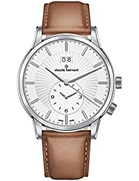 Claude Bernard Herren-Armbanduhr Classic 2nd Time Zone Großdatum GMT Analog Quarz 62007 3 AIN