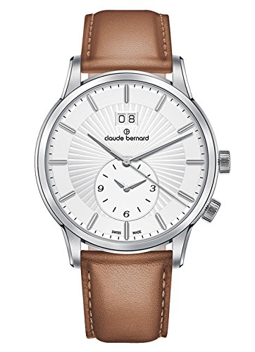 Claude Bernard Men's Watch Classic 2nd Time Zone Big Date GMT Analogue Quartz 62007 3 AIN