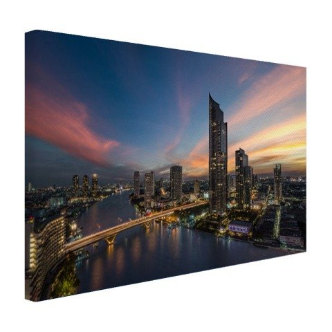 Chao Phraya Rivier Bangkok Impression sur Toile 30x20