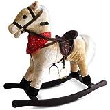Jago Cavallo cavallino a dondolo di peluche colore beige