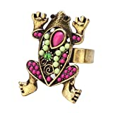 Ring Frosch Made mit Emaille Kristall Glas von Joe Cool