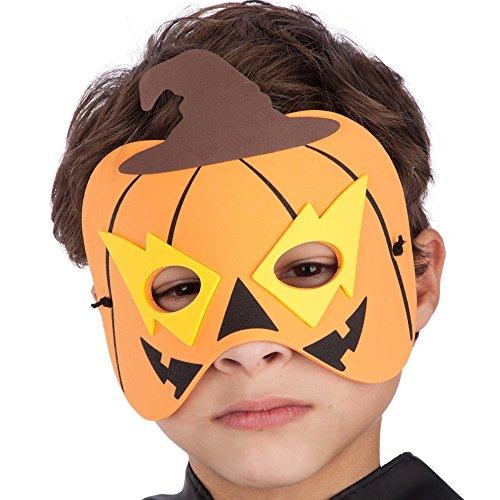 Carnival 00547-Kürbis Maske für Kinder, Eva, in Briefumschlag mit Lenkerklemmung (Für Kürbis-maske Kinder)