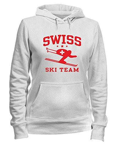 Speed Shirt Kapuzen-Sweatshirt Frauen Weiss OLDENG00261 Swiss Ski Team