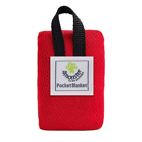 gaeruite Portable Picknickdecke, Faltbare Pocket Size Picknick Stranddecke Leichte wasserdichte, Outdoor Camping Nylon Pocket Picknick-Matte Ultra Mini Beach Pad 70 x 110CM (Red)