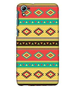 PrintHaat Designer Back Case Cover for HTC Desire 826 :: HTC Desire 826 Dual Sim (designer pattern :: decorative design :: zig zag design :: multicolor design :: latest trendy design :: excellent drawing design :: good looking art design :: in black, green, red, blue and yellow)