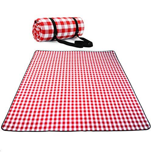 X-Labor Waschbar Outdoor Picknick Decke 200x200 cm XXL mit wasserdichter PEVA Unterseite Wärmeisoliert Stranddecke Campingdecke Motiv-A -