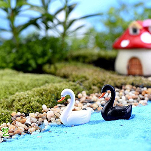 White-Swan-Garden-Ornament-Miniature-Figurine-Plant-Pot-Fairy-Garden-Decor-White