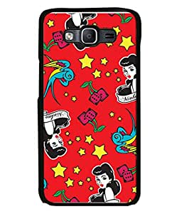 Fabcase Cartoon Lady Abstract Designer Back Case Cover for Samsung Galaxy On5 (2015) :: Samsung Galaxy On 5 G500Fy (2015)