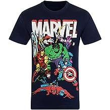 7186fb097 Marvel Comics - Camiseta Oficial para niño - con Personajes de los cómics  Hulk