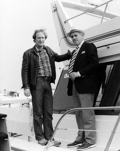le als Arthur Daley unt Dennis Waterman als Terry McCann in Minder 25x20cm Schwarzweiß-Foto (Dennis Mccann)