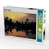 CALVENDO Puzzle Backwater - Kerala 2000 Teile Lege-Größe 90 x 67 cm Foto-Puzzle Bild von Martin Rauchenwald