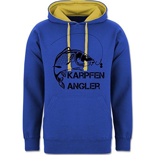 Angeln - Karpfen Angler - zweifarbiger Kapuzenpullover / Hoodie für Damen und Herren