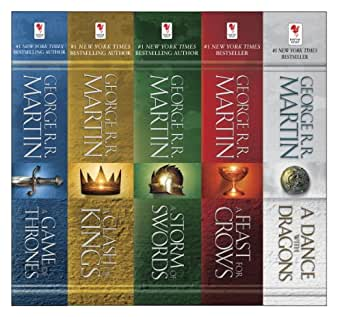George Rr Martin S A Game Of Thrones 5 Book Boxed Set Song Of Ice And Fire Series A Game Of Thrones A Clash Of Kings A Storm Of Swords A Feast