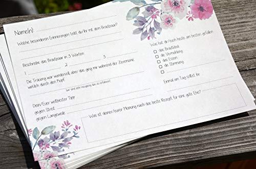 Gästebuchseiten 50 Gästekarten zum Einkleben ins Gästebuch - 5