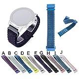 Bearbelly Armband Kompatibel mit Amazfit GTR 42 mm/Garmin vivoactive3 / vivomove HR/Vivomove/Vivoactive 3 Music/Forerunner 645 - Nylon Atmungsaktiv Austauschbares Uhrenarmband -