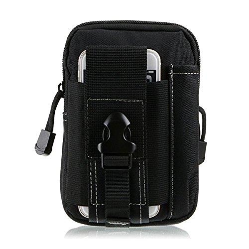 GES Tactical MOLLE EDC Beutel 1000D Nylon Wasserdicht Utility Gadget Gürtel zum Aufhängen Taille Taschen Outdoor Werkzeug Organizer Handy Beutel, schwarz