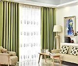 Bwiv vorhänge mit ösen Blickdicht Gardinen leinen Schlaufen Landhausstil Verdunklungsvorhang Schlaufenschal Dekoschal für Wohnzimmer Schlafzimmer Kinderzimmer Outdoor Grün 140X240 cm