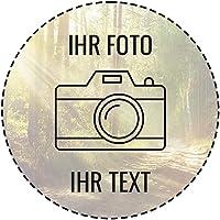Tortenaufleger selber gestalten mit Foto & Text - Zuckerpapier (Ø10cm)
