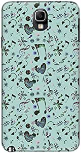The Racoon Lean printed designer hard back mobile phone case cover for Samsung Galaxy Note 3. (Teal Music)