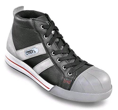 OTTER 55453 Sicherheitsschuh Arbeitsschuhe Flach Sneaker Chuck cool modern S2, Größe:47