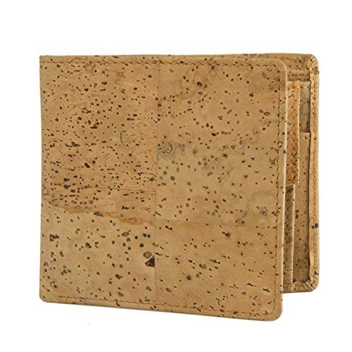 WOLA Herren Portemonnaie aus Kork Geldbeutel mit Münzfach – vegan - 2