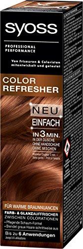 Syoss Color Refresher für warme Braunnuancen, 3er Pack (3 x 75 ml) (Handschuh Ansatz Schwarz)