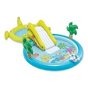 Intex-Centro di gioco acquatico con scivolo-2Piscina, 180/132L, 57164)