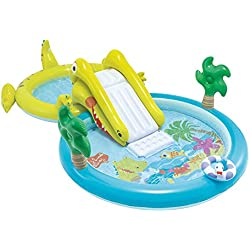 Intex - Centro de juegos acuático con tobogán - Dos piscinas (180 y 132 litros) (57164)