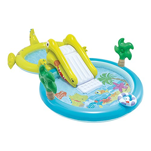 Intex-Water Games Centre with Slide-Two Swimming Pools (180and 132litres) (57164)