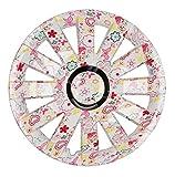 PREMIUM Radkappen Radzierblenden Radblenden 'Modell: Onyx Flower Look' 4er Set, Farbe: Bunt, Felgendurchmesser:14 Zoll