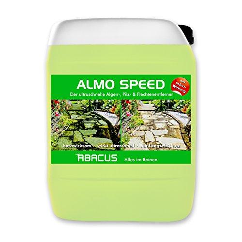 ABACUS ALMO Speed 30 Liter Flechtenentferner (1080.30) - Algenentferner Pilzentferner Moosentferner Grünbelagsentferner Denkmalreiniger Grabsteinpflege Algen Flechten Moos Entferner Algizid Algenex
