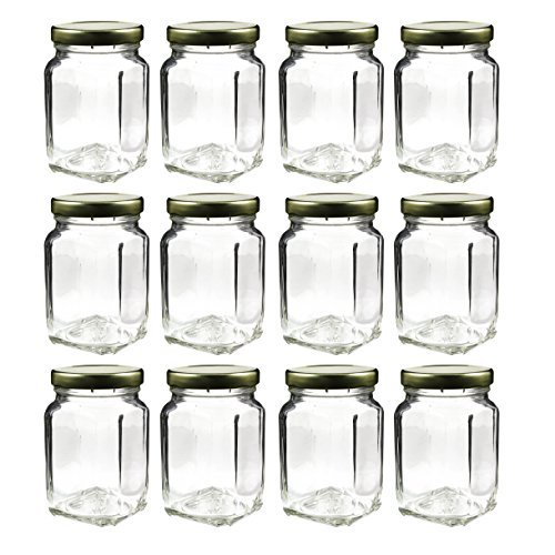 3eee86a9556a Cornucopia Brands 12 Pack of 6oz Square Victorian Jars, Bulk Value Pack of  Square Glass Jars with Screw-On Lids, Ideal for Spice Storage, Wedding and  ...