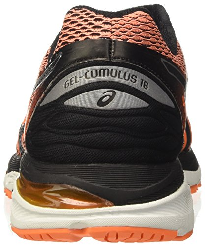 Asics Gel-Cumulus 18, Scarpe Sportive Outdoor Uomo Arancione (Hot Orange/Black/White)