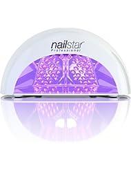NailStar® Professioneller LED-Nageltrockner mit UV Nagellampe für Shellac und Gelnagellack Lichthärtegerät mit Timer, Tragbares Härtungsgerät für Maniküre, Aushärtungslampe für Fingernägel – weiß