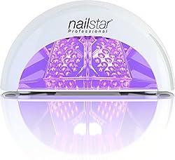 NailStar Professionelle LED Nagellampe mit Timer für Shellac + Gel Nägel | Weiß