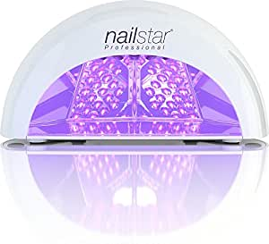 NailStar&trade - Lampada a LED Professionale Asciuga Smalto per Unghie, per Manicure Shellac e con Smalto Gel, con Timer da 30sec, 60sec, 90sec e 30min (Bianco)