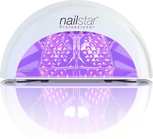 #NailStar® Professioneller LED-Nageltrockner mit UV Nagellampe für Shellac und Gelnagellack Lichthärtegerät mit Timer, Tragbares Härtungsgerät für Maniküre, Aushärtungslampe für Fingernägel – weiß#